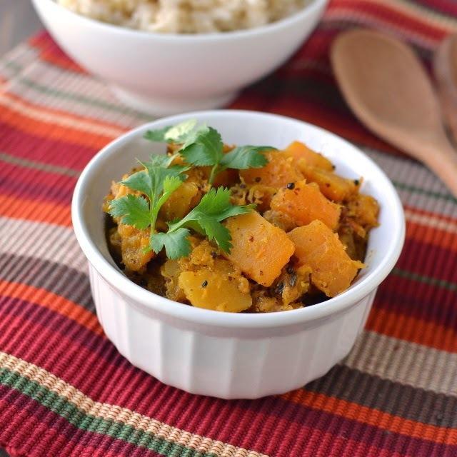 Himachal Pradesh -- Auriya Kadoo (Pumpkin/ Butternut squash in Mustard sauce)
