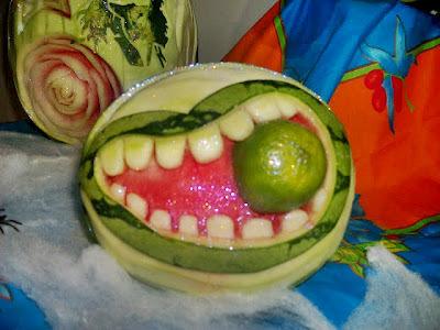 como fazer decoração com frutas e legumes