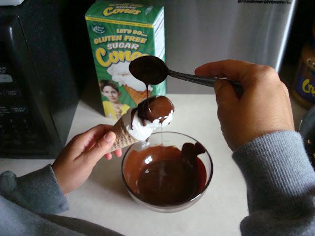 cobertura de chocolate para sorvete pode colocar na geladeira