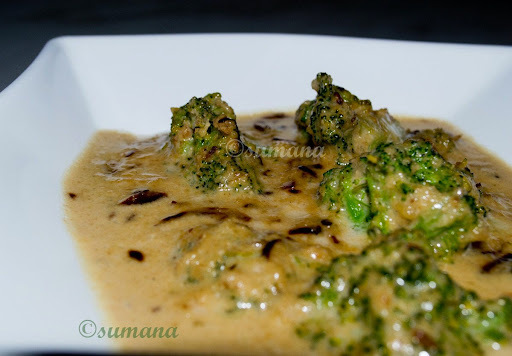 Broccoli  With Coconut Milk