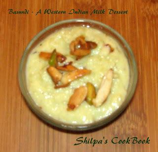 Basundi - A Western Indian Milk Dessert