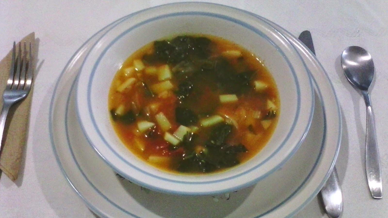 Nutritiva sopa de Papa y Acelga