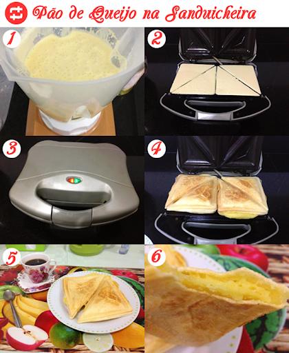 Pão de queijo na sanduicheira (sanduíche de pão de queijo)