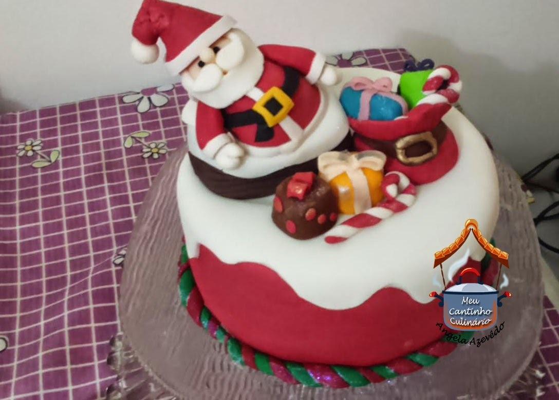 bolo natal feito forma papel