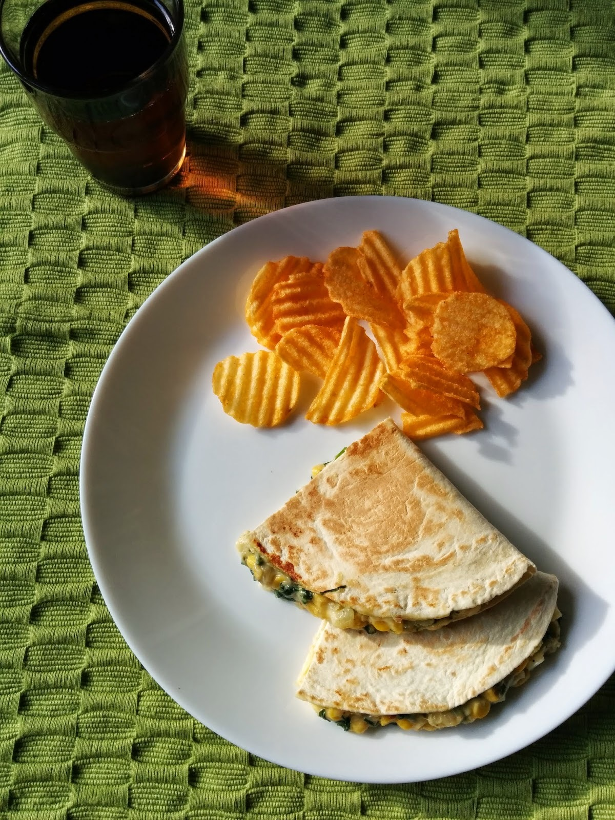 Recipe of Corn & Spinach Quesadillas | How to Make Corn & Spinach Quesadillas