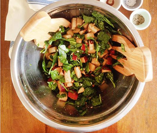 Salada de Espinafre com Pera