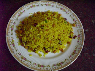 Andhra Pulihora - Tamarind Rice - Andhra Style