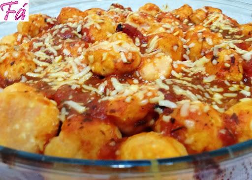 nhoque de forno com batata e abobora