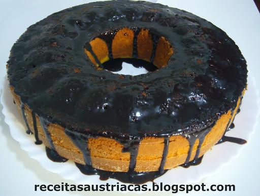 bolo de laranja batido no liquidificador