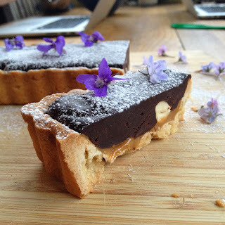 Chocolate, Caramel and Hazelnut Tart