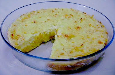 Receita de Bolo de Batata recheado com queijo