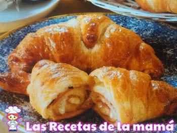 Receta de Croissants de jamón y queso