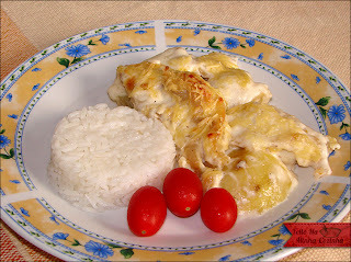 peixe panga ao molho branco ao forno