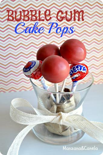 Cake Pops de Chicle, totalmente adictivos.