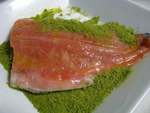 GRIDDLED TROUT WITH HERBS - truta grelhada com ervas