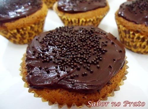Cupcake de Cenoura com Cobertura de Ganache