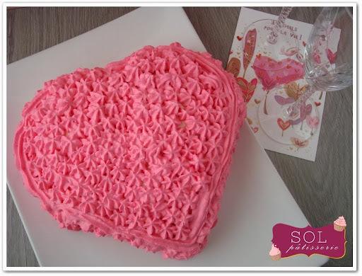 Gâteau en forme de coeur pour la Saint Valentin - Bolo em forma de coração para o São Valentim