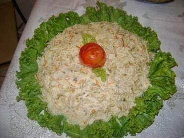 Salada de Maionese ao Leite com Frango
