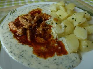 Morčacie mäso s kôprovou omáčkou
