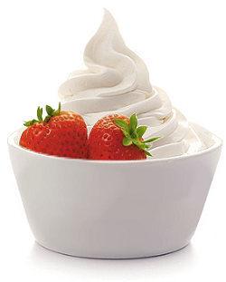 sorvete com bebida lactea