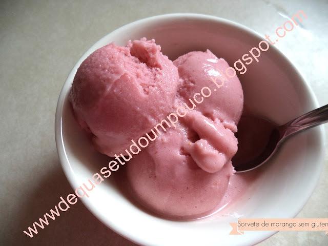 de sorvete caseiro com leite de soja