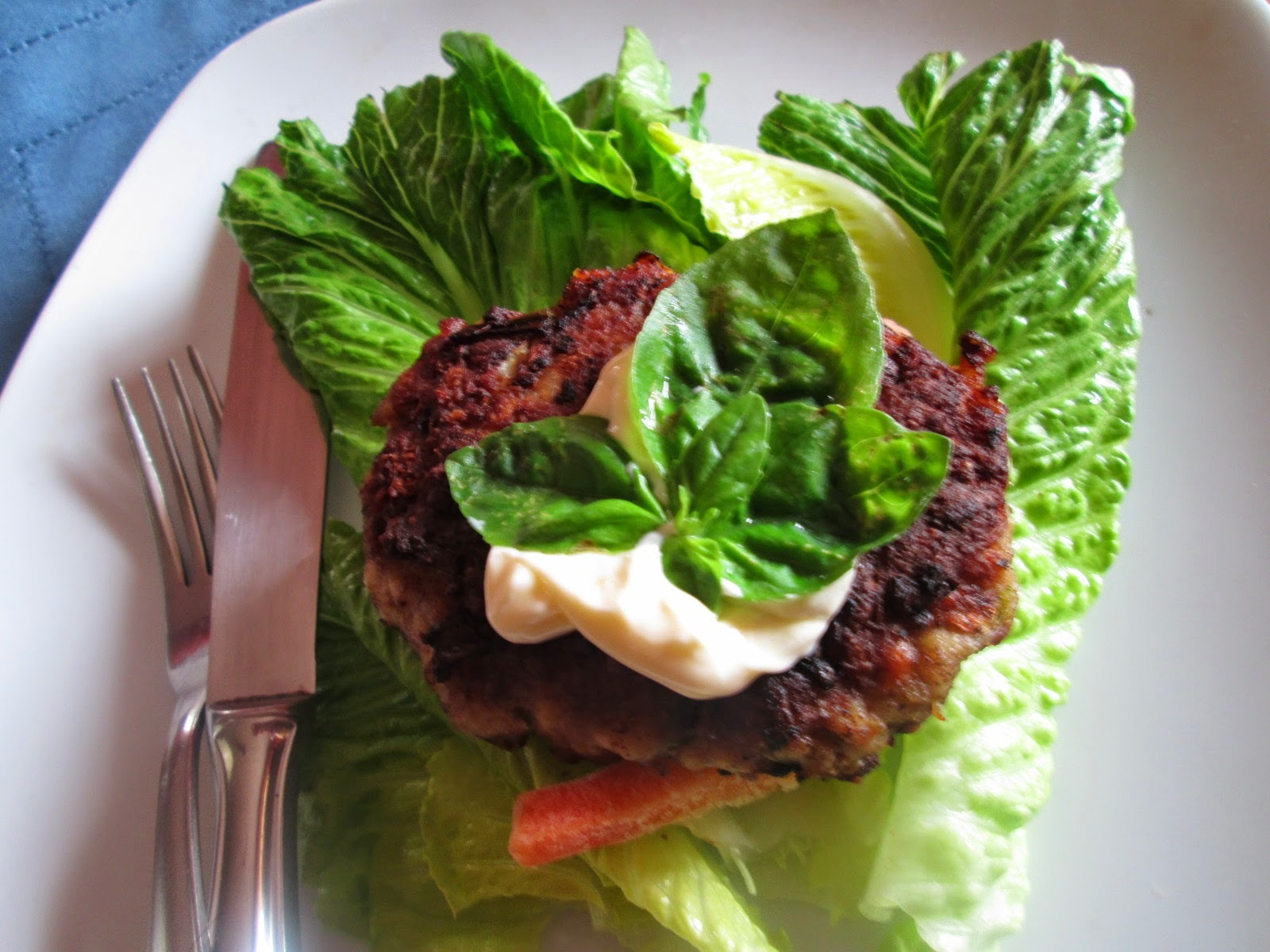 Turkey burgers  in Lettuce wraps