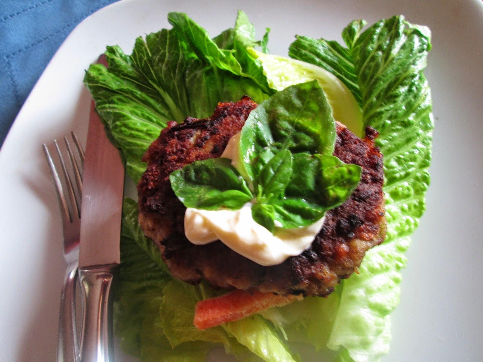 Turkey burgers  in Lettuce wraps