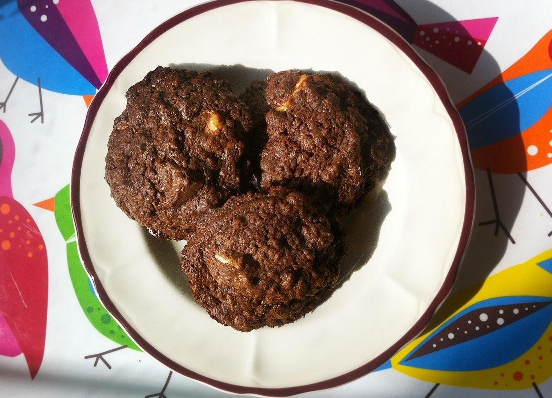 Celozrnné čokoládové cookies