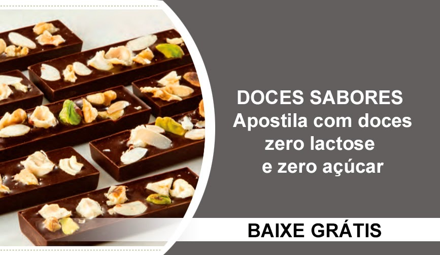 Apostila com doces Zero Lactose e Zero Açúcar