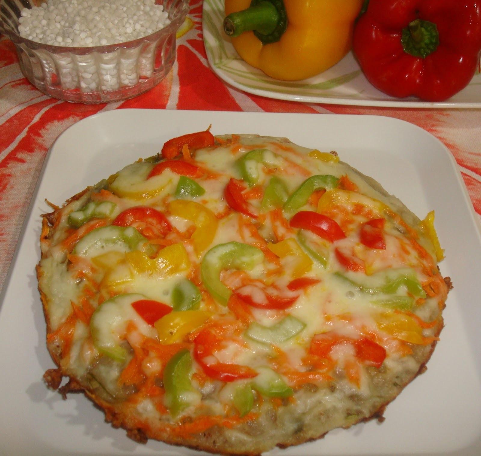 Sabudana (sago) Pizza