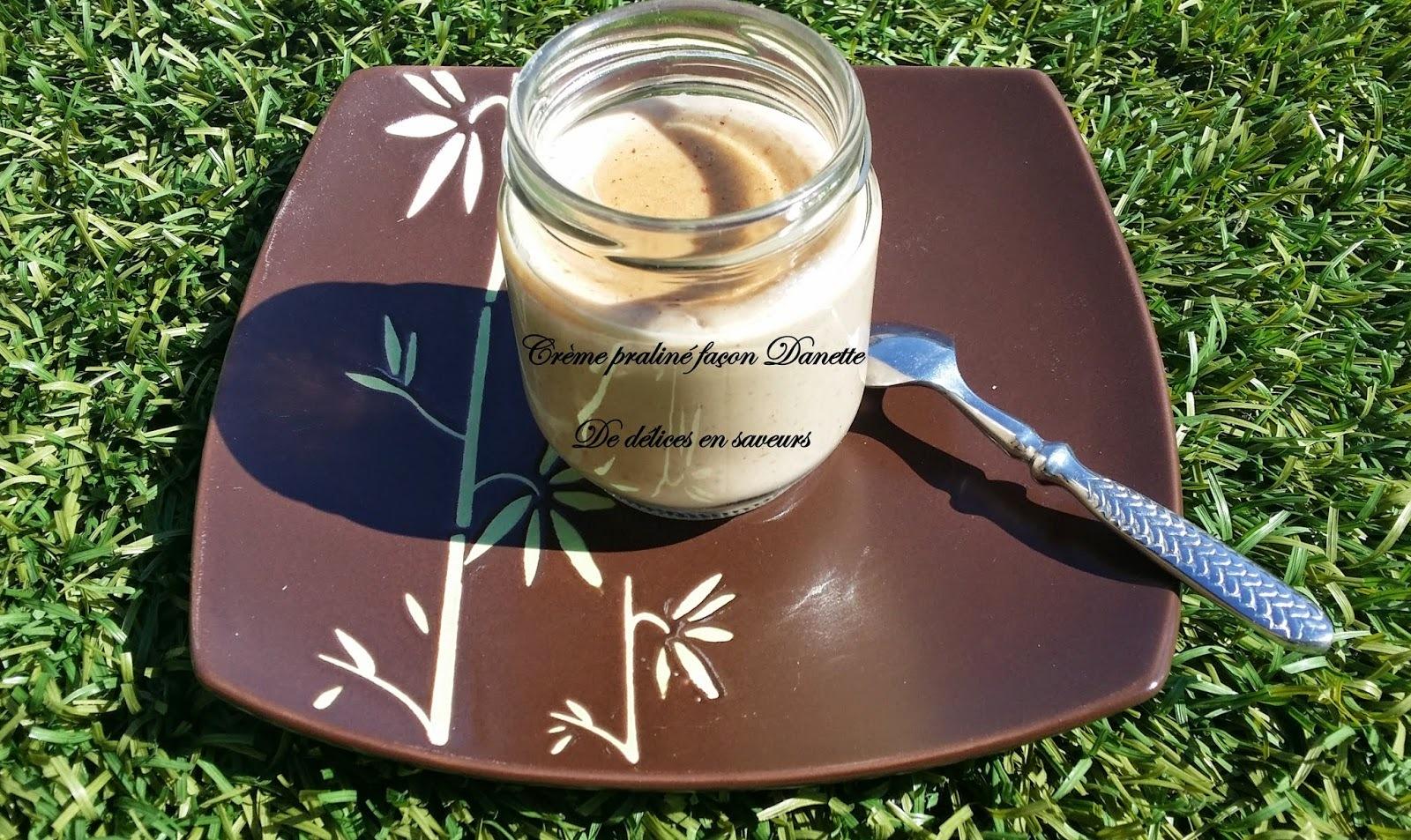 Crème dessert praliné façon danette® au thermomix ou pas