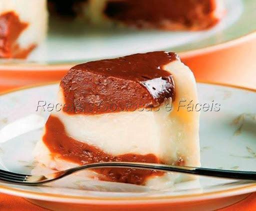 Manjar de coco e chocolate