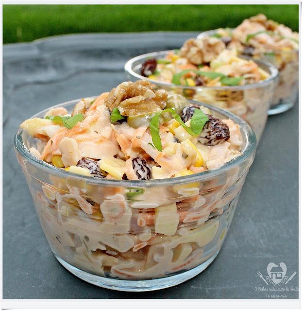 Receita fácil e deliciosa de salada de salpicão