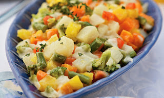 Salada com molho de maionese light
