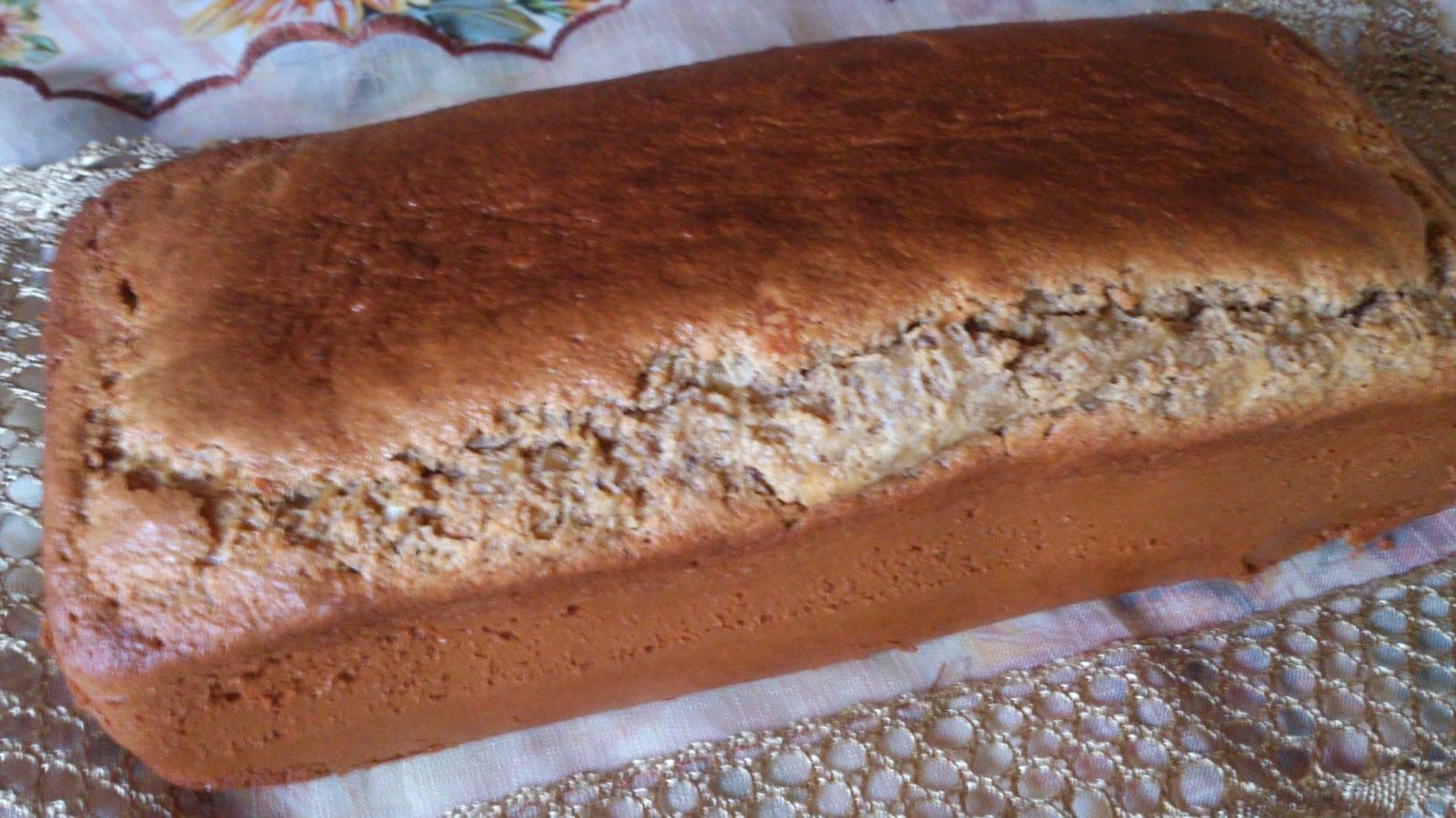 Pão de míx de farinhas funcionais, sem fermento biológico