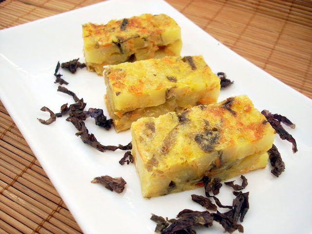 Tortilla de Patata con Alga Nori