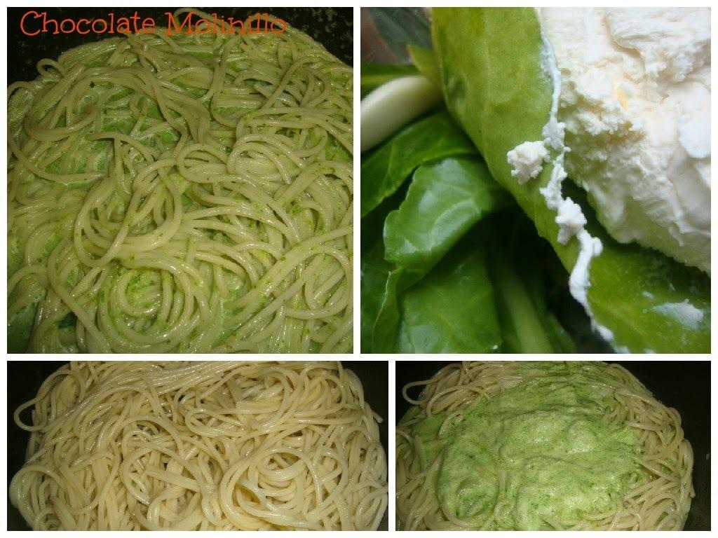 Espagueti Verde con Espinacas