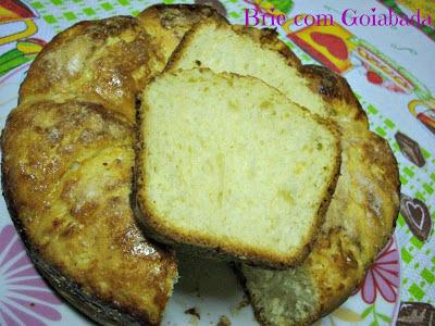 de bolo de massa mandioca caseiro