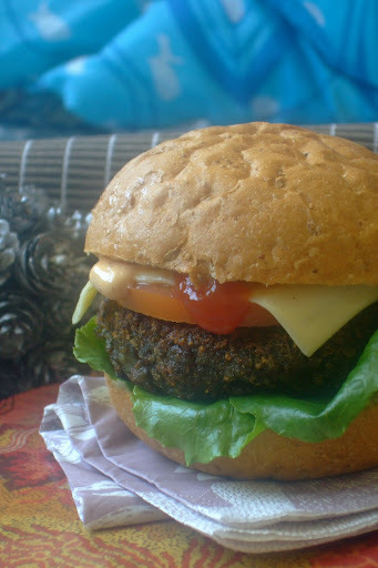 SOYA MUSHROOM BURGER- Happy Teachers Day!!