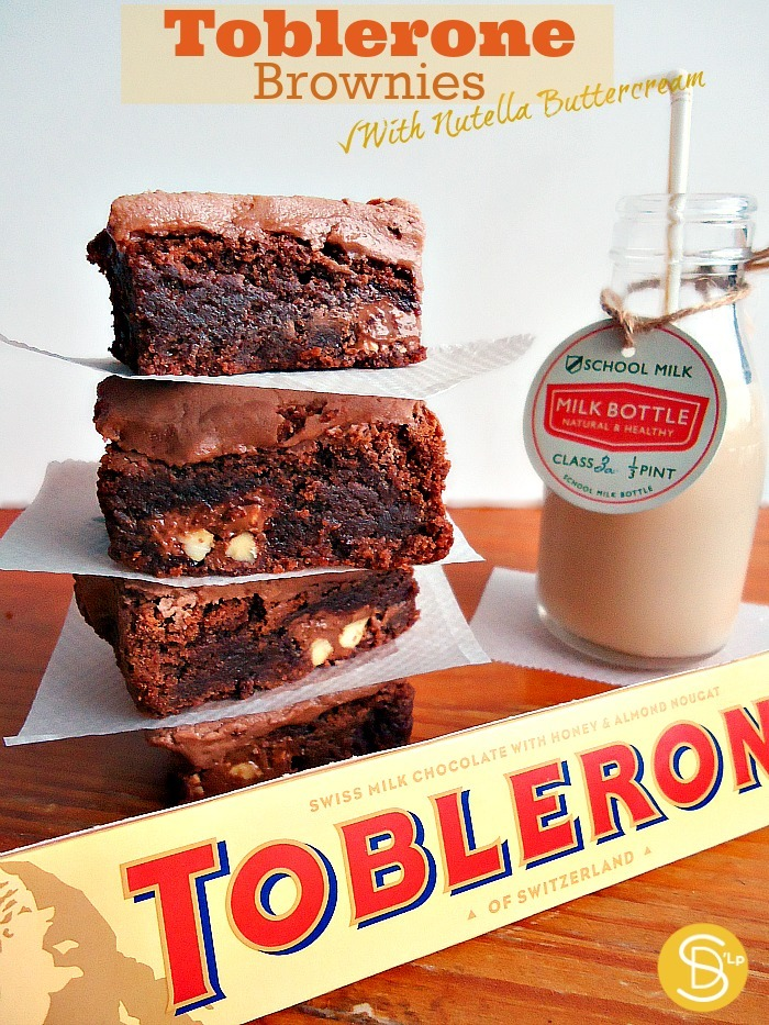 Toblerone Brownies With Nutella Buttercream (Brownies de Toblerone con Crema de mantequilla y Nutella): No aptos para flojos/as de conciencia.
