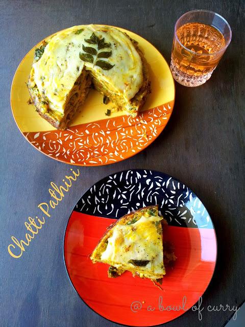 'Chatti Pathiri' - Layered Pathiri - Indian Lasagna
