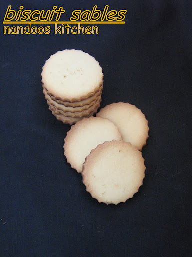 Biscuit sables