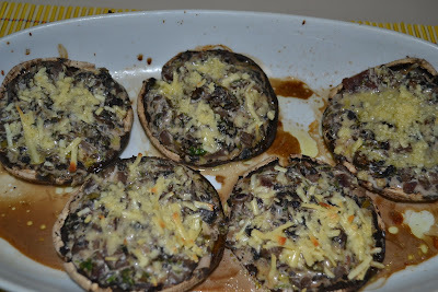Cogumelos shiitake recheados