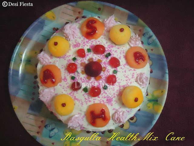 Rasgulla HealthMix Cake (Come on  - Lets cook buddies) Entry 60