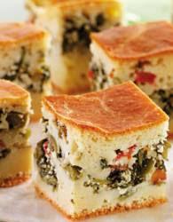 Torta de escarola e azeitonas