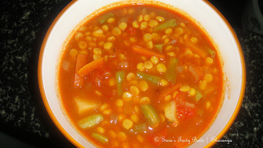 Mixed Vegetables with Chana Dhal