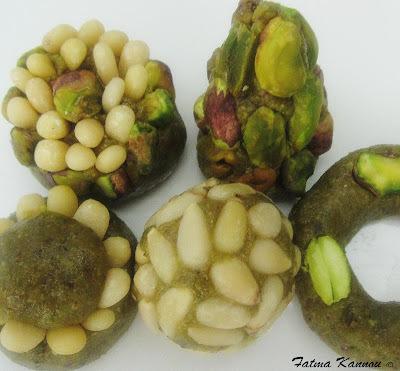 Pâtisserie tunisienne pistache حلو فستق