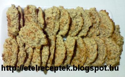 Tejfölös-sós házi készítésű zabpehelykeksz receptje