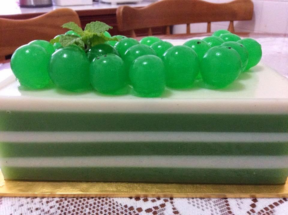 Cendol & Coconut Milk JellyCake 珍多椰奶燕菜蛋糕