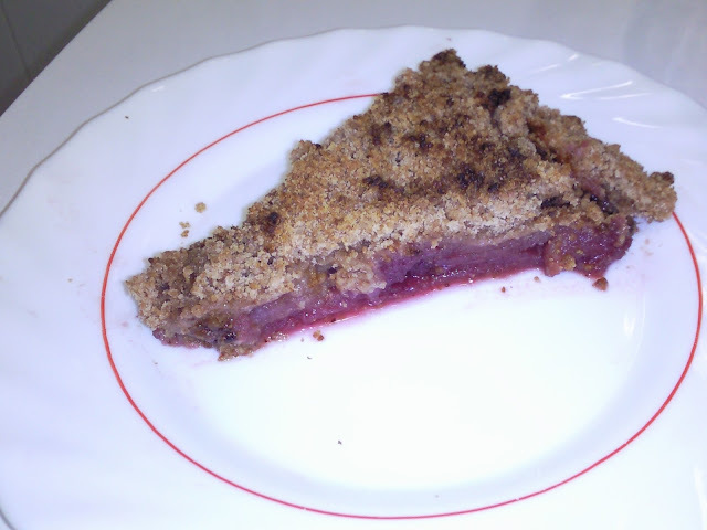 Crumble de manzana y arándanos ( tarta )